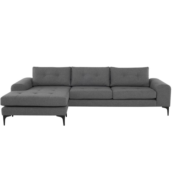 Clayton Sectional Shale Grey