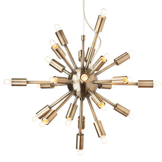 Sputnik Brass Pendant Light
