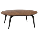 Tapered Round Coffee Table Black