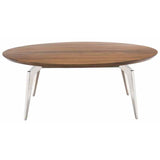 Tapered Round Coffee Table Silver