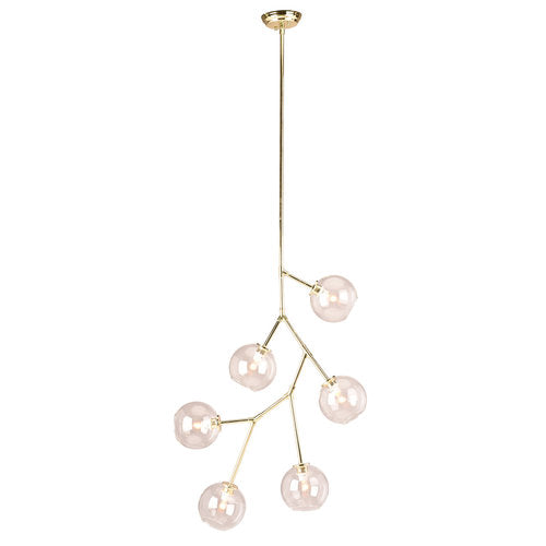 Atomica 6 Polished Gold Pendant