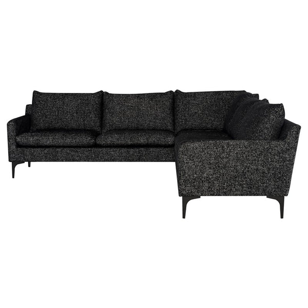 Andie L Sectional - Salt & Pepper