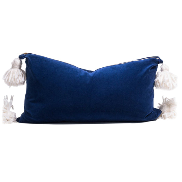 Happy Tassel Navy Lumbar