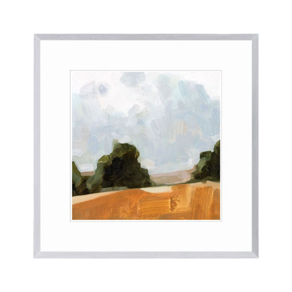 Watercolour Hills Framed Print