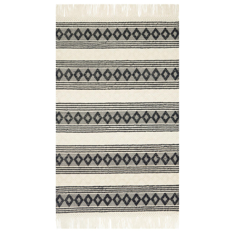 Holloway Ivory/Black Rug