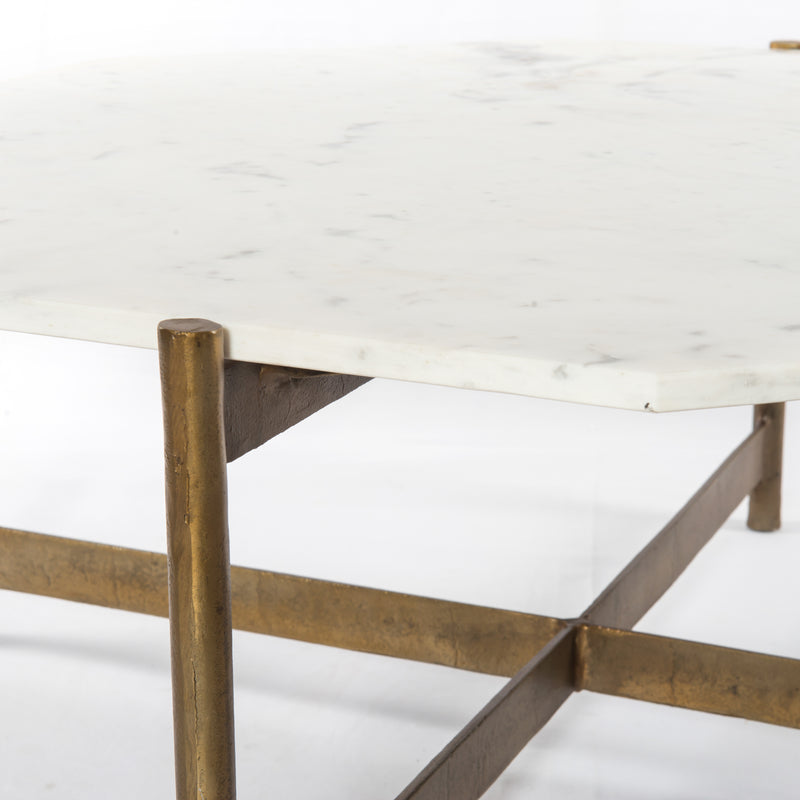 Amber Coffee Table - Raw Brass