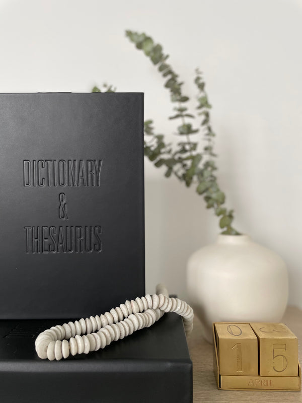 Dictionary & Thesaurus Book - Black