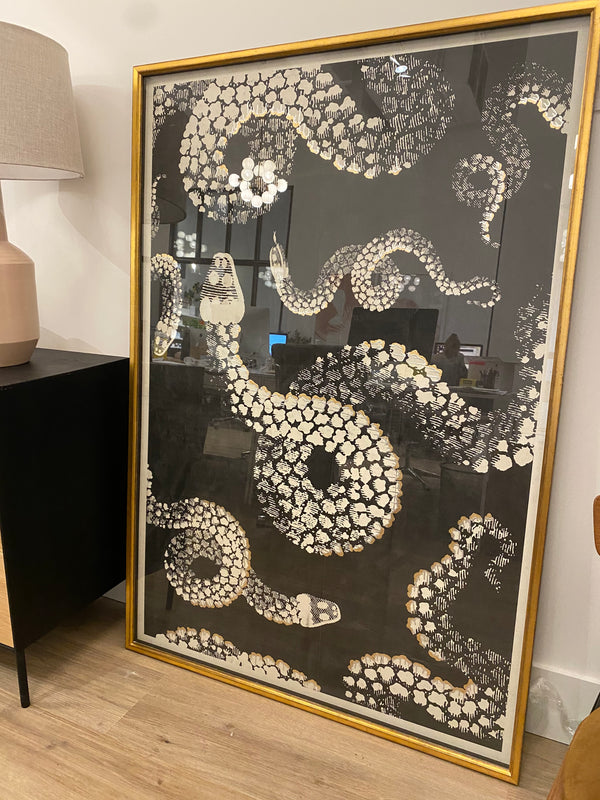 Kaa I Framed Print - Floor Model