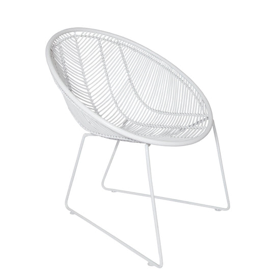 Rattan White Weave Chair