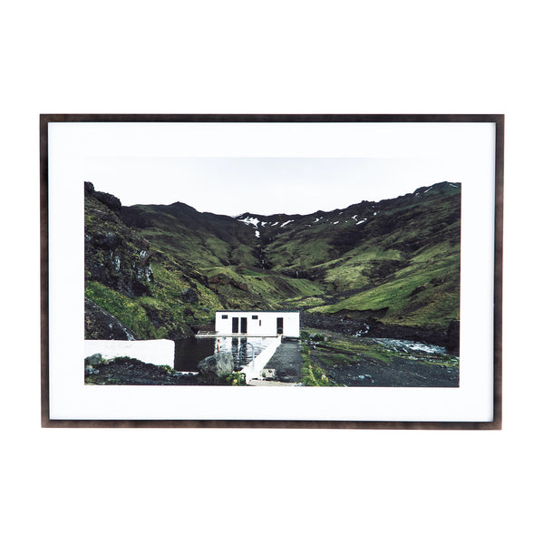 Iceland Swim Framed Print