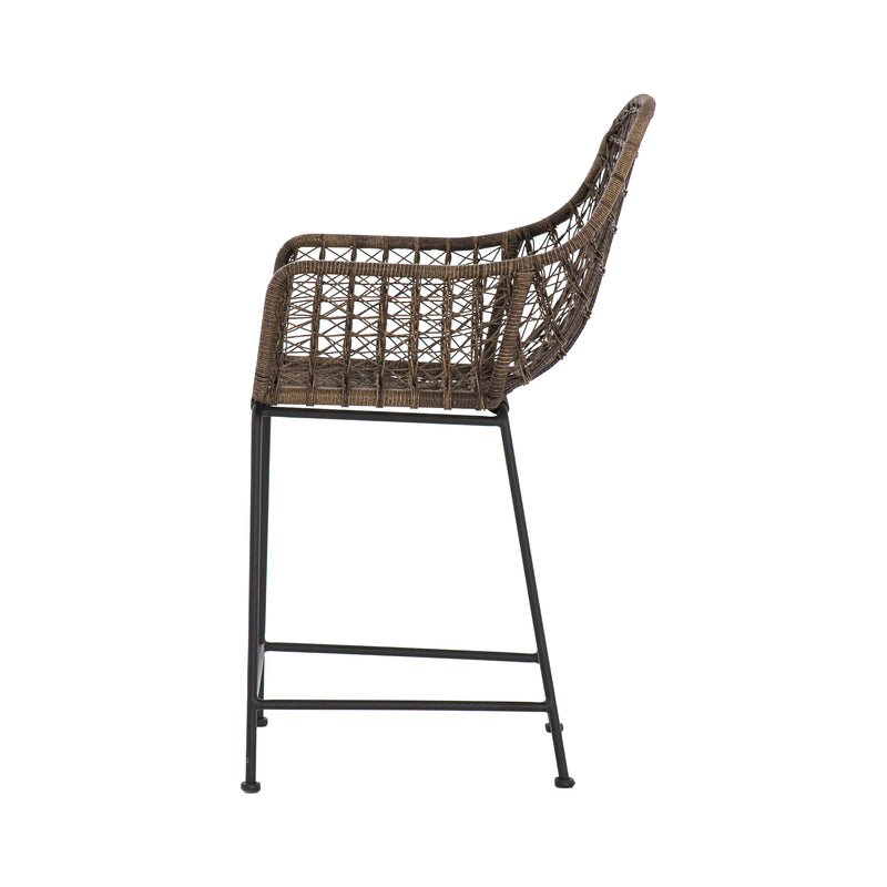 Mandara Outdoor Stool - Distressed Grey