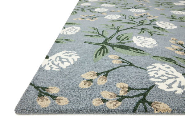 Joie Peonies Dusty Blue Rug