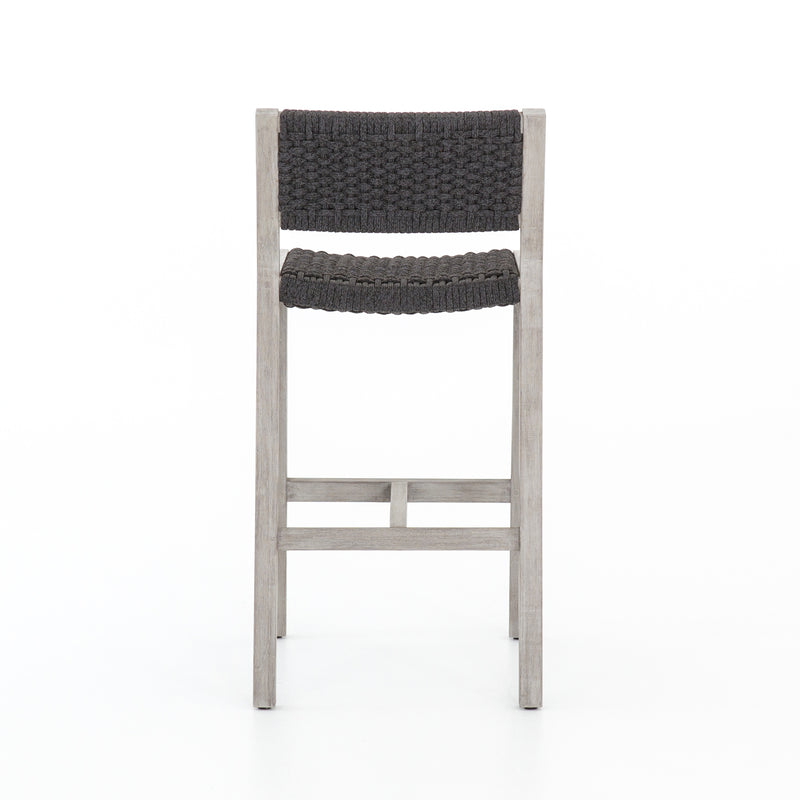 Lando Outdoor Stool - Weathered Grey