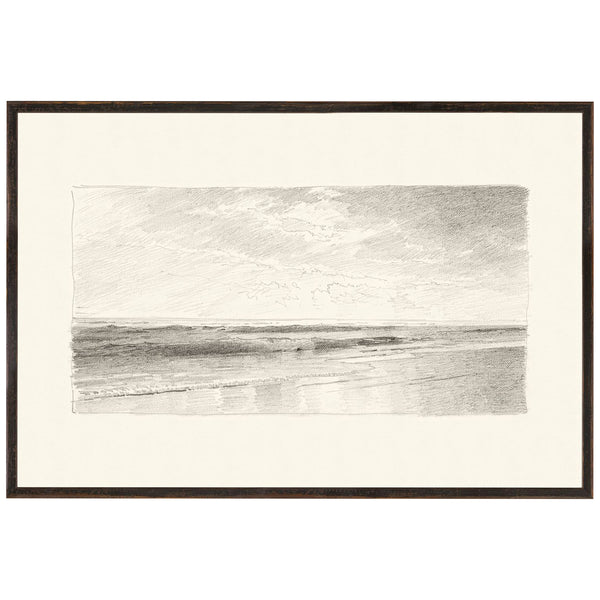 Killarney Graphite Seascape Framed Print