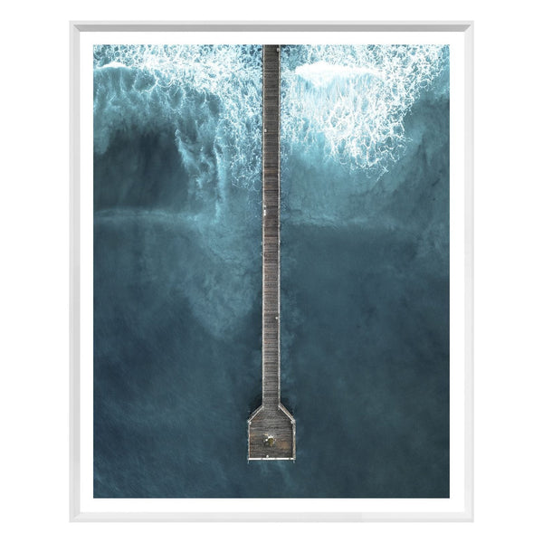 Long Dock Framed Print