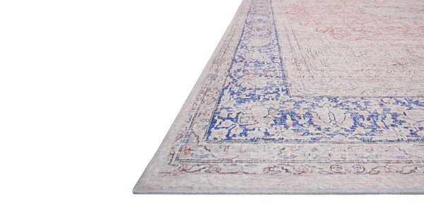 Lucca Terracotta/Blue Rug