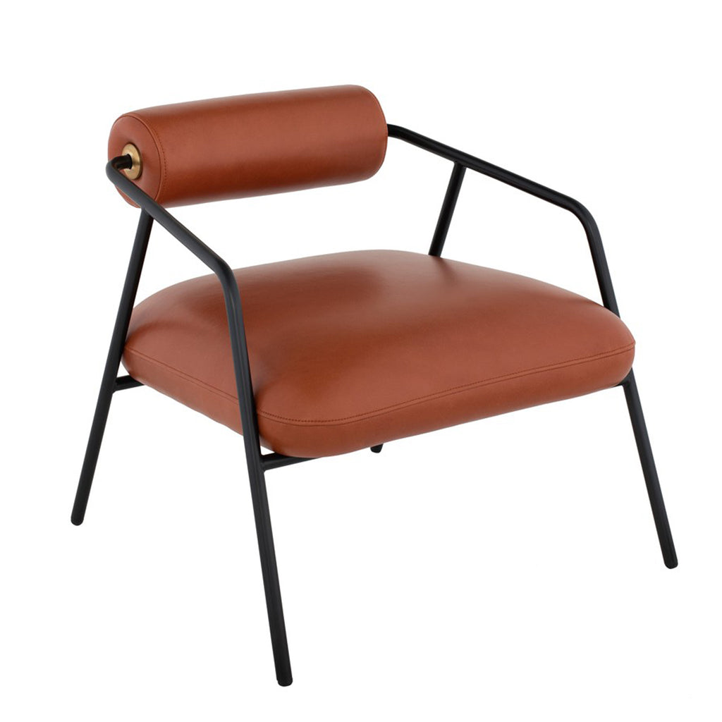 Lydia Armchair - Rust Leather