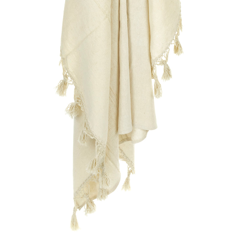 Ivory Woven Throw