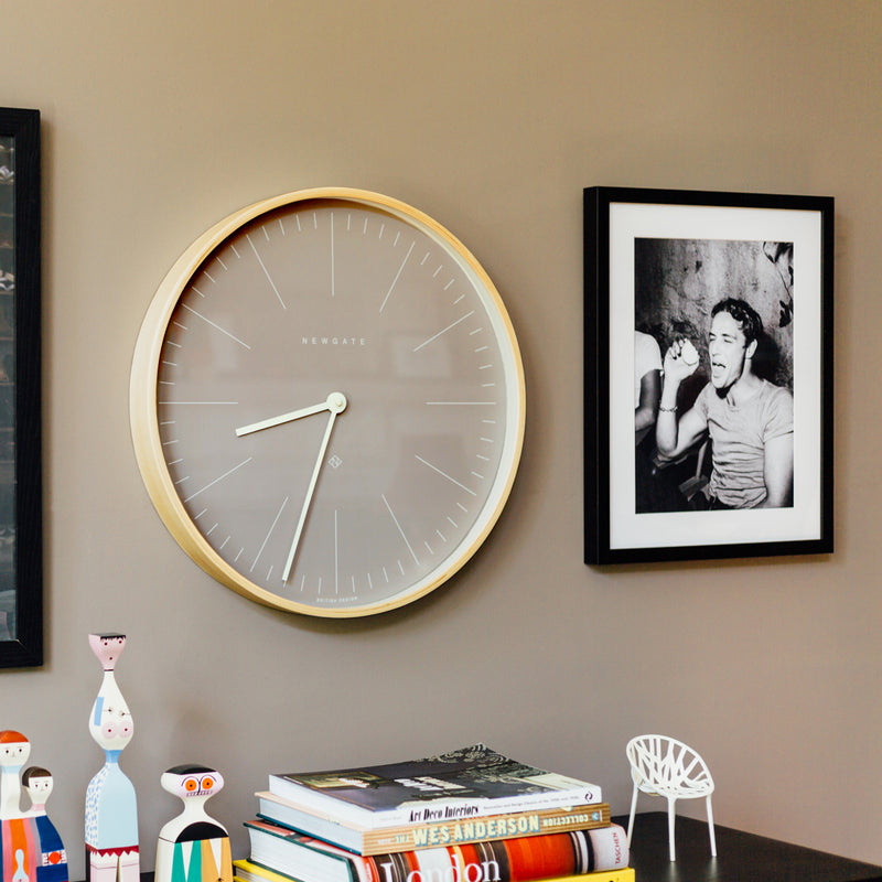 Mr. Clarke Large Wall Clock - Clay Grey