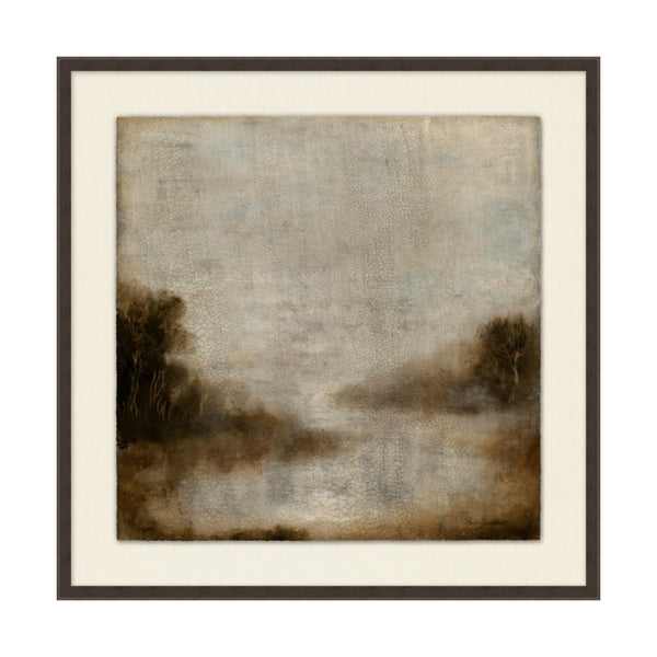 Hazey Marsh Framed Print