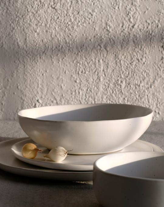 Fable Pasta Bowl - Speckled White