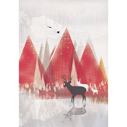 Red Mountains II Print