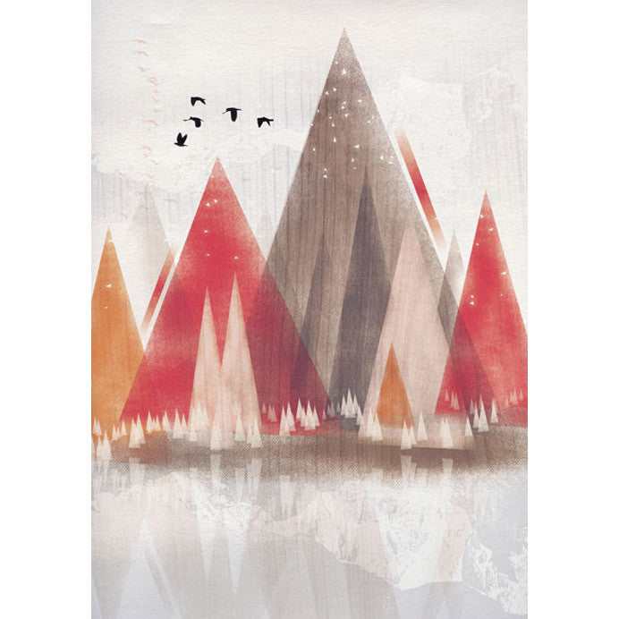 Red Mountains I Print