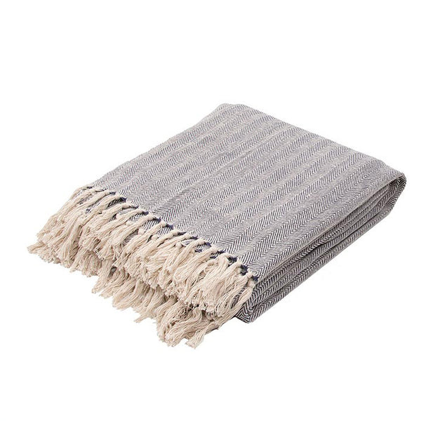 Neutral Grey Seabreeze Throw