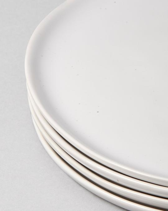 Fable Side Plates - Speckled White