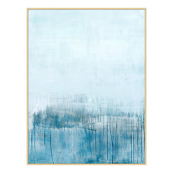 Samantha Blue Framed Canvas