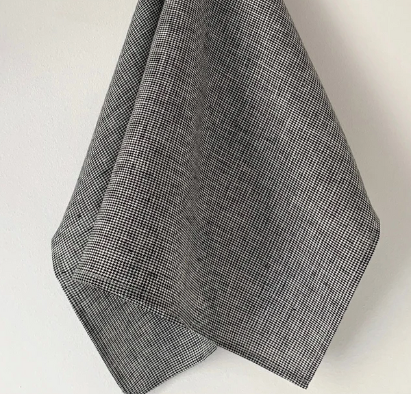 Linen Kitchen Cloth - Houndstooth Check