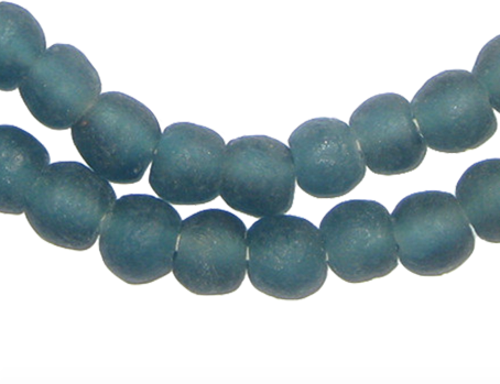 Teal Small Recycled Glass Beads