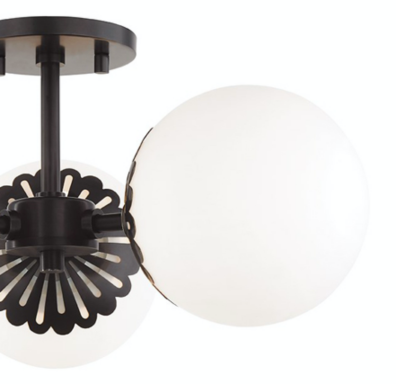 Larissa Semi-Flush - Old Bronze