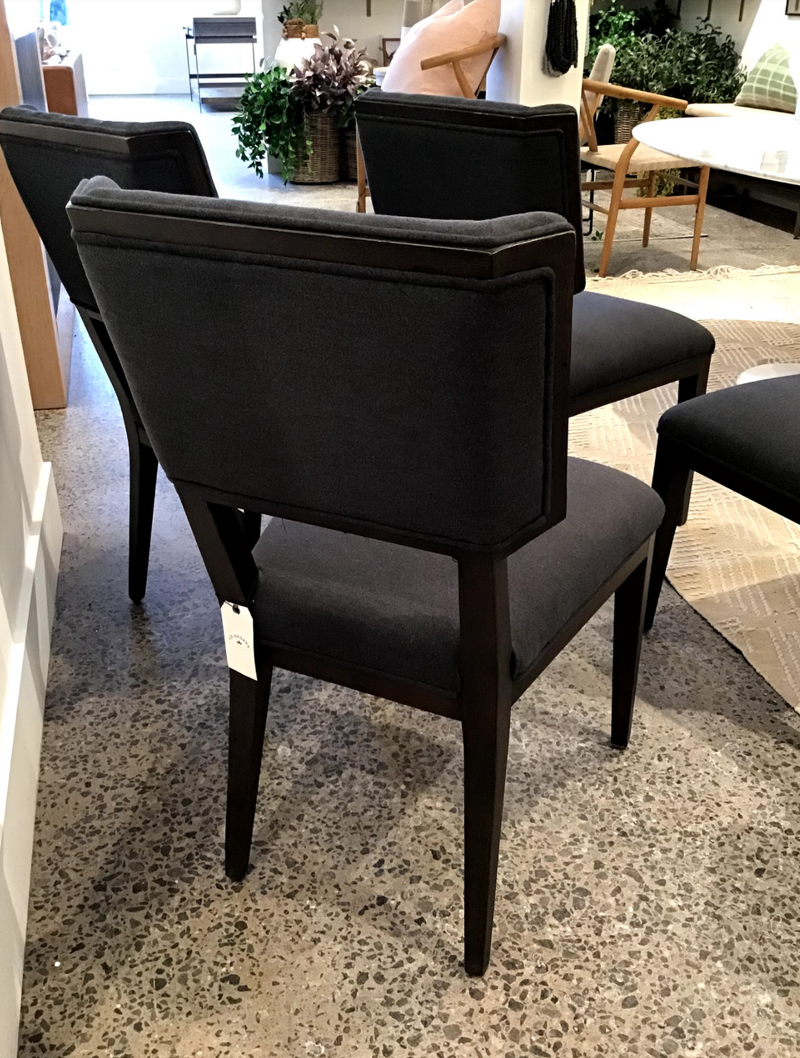 Jaks Dining Chair - Misty Black - Floor Model
