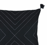 Geometric Stitch Pillow - Charcoal