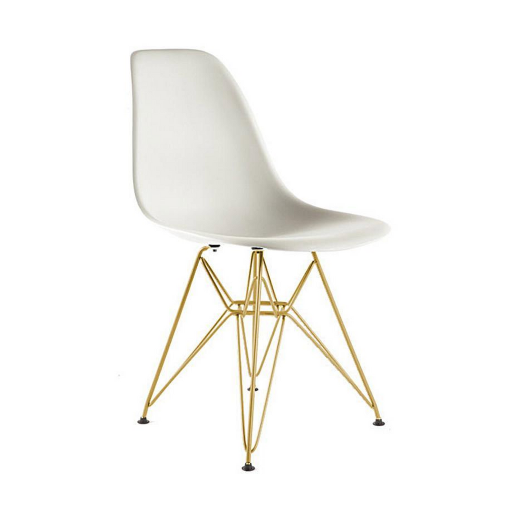 Eiffel Chair White and Gold