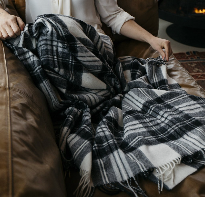 Coal Windowpane Throw