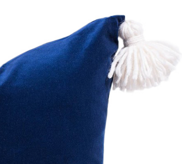 Happy Tassel Navy Pillow