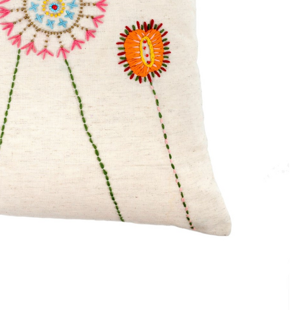 Flora Embroidered Pillow