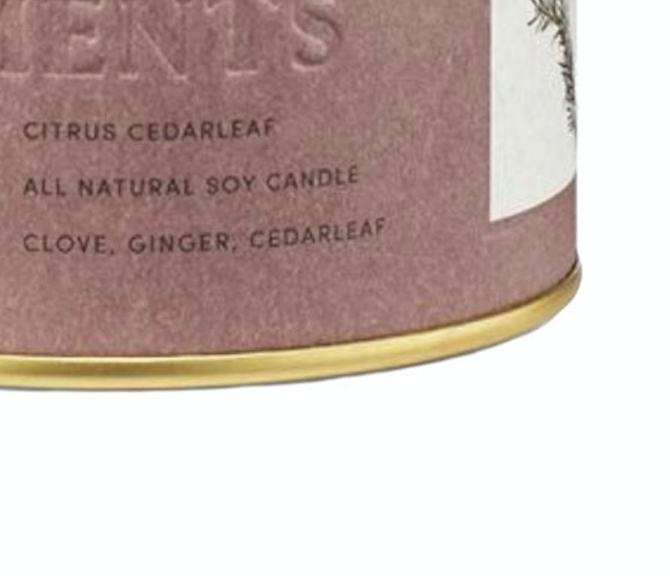 Citrus Cedarleaf Tin Candle