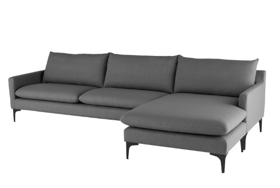 Andie Sectional - Slate Grey