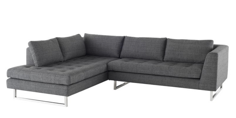 June Sectional Dark Grey