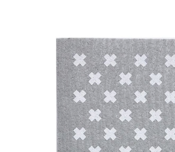 Sponge Cloth - Tiny X Grey