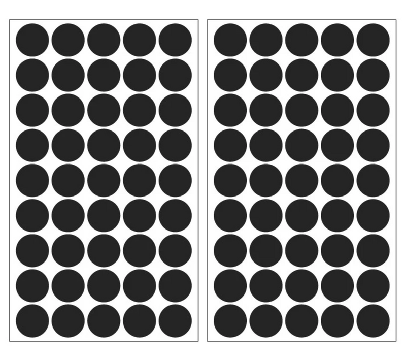 Black Dot Wall Decals