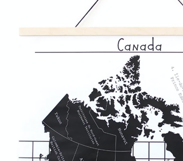 Map of Canada Wall Hanging