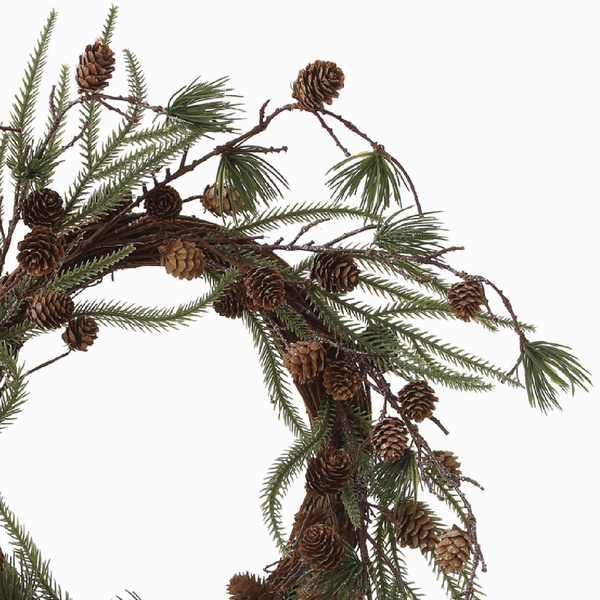 Faux Pine Wreath