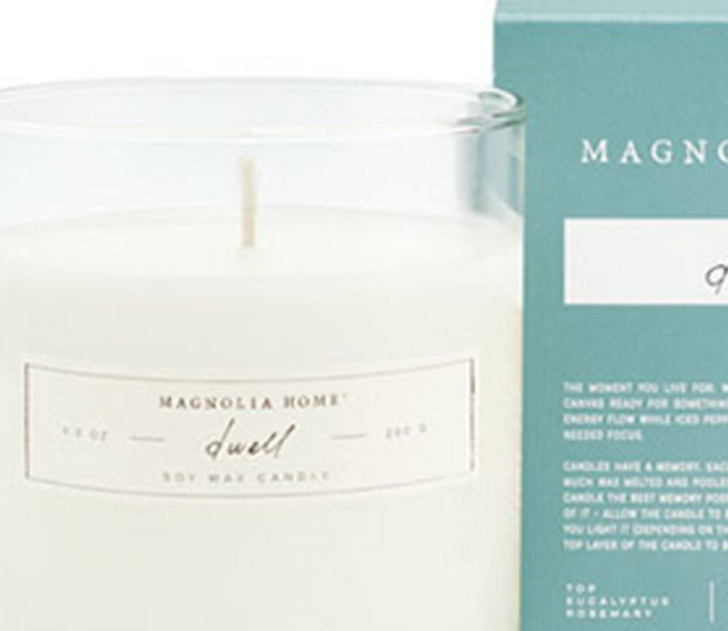 Magnolia Home Dwell Glass Candle