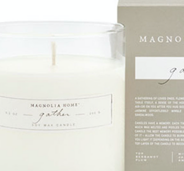 Magnolia Home Gather Glass Candle