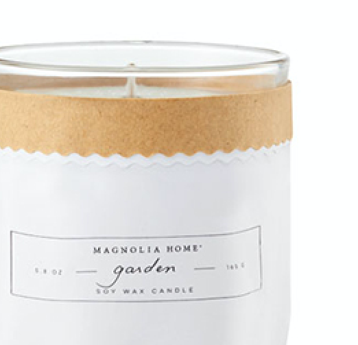Magnolia Home Garden Kraft-Textured Candle
