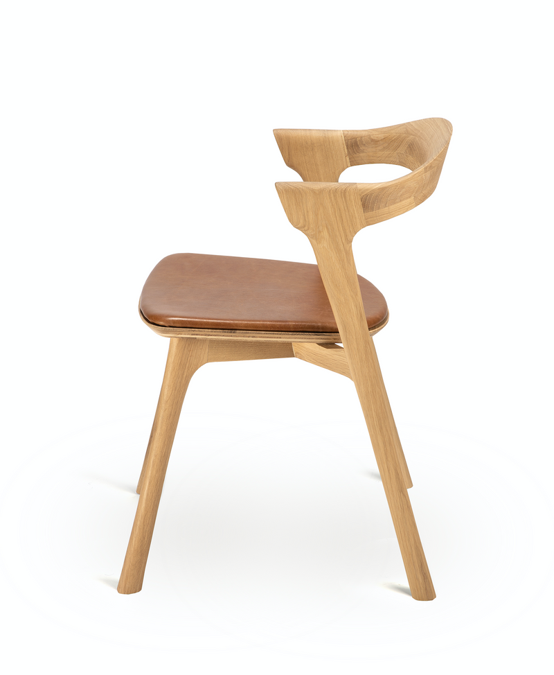 Oak Bok Dining Chair - Cognac Leather